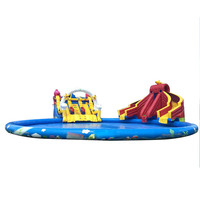 Giant inflatable water slide pool for adult kids inflatable swimming pool amusment park for Sale