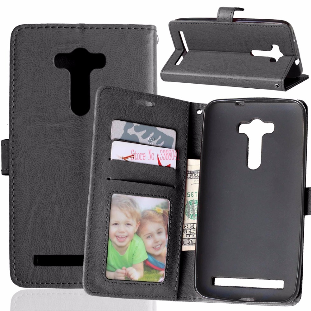 Flip Case for ASUS Zenfone 2 laser ZE550KLWallet Stand Phone Leather Cover for ASUS Z00LD <font><b>ZE</b></font> ZE550 <font><b>550</b></font> 550KL <font><b>KL</b></font> ASUS_Z00LD Bag image