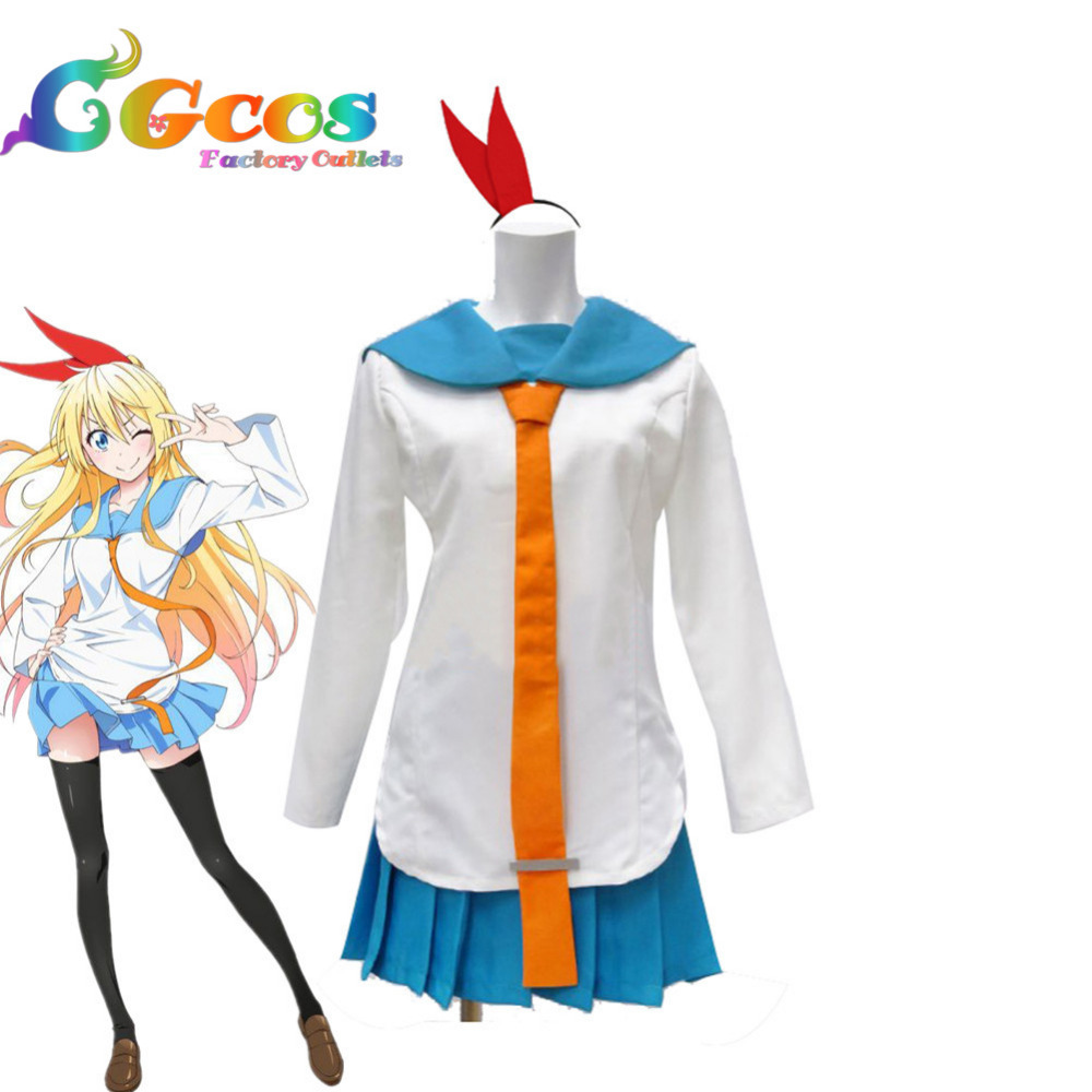 CGCOS Free Shipping Cosplay Costume Nisekoi Chitoge Kirisaki New in ...