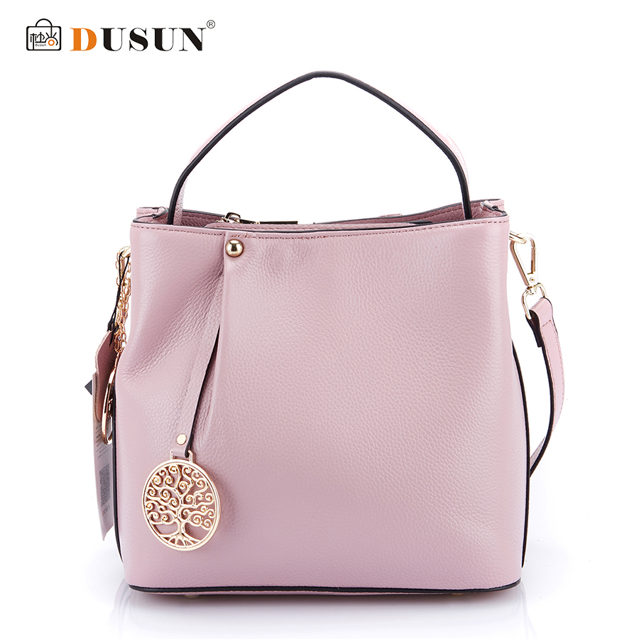 DUSUN Fashion Brands Women Handbags Genuine Leather Messenger Bag Woman Leather Handbags Women Shoulder Bag Casual Tote 2016 New new women genuine leather handbags women s first layer of leather handbags fashion casual bucket bag shoulder bag messenger bags