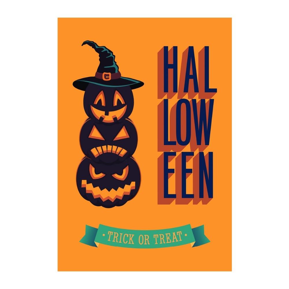 Decorative Outdoor And Indoor Flags Happy Halloween Trick or Treat ...