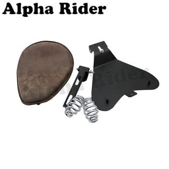 Retro Driver Solo Seat Pad & Baseplate & Springs & Bracket For Bobber Custom Chopper Cafe Racer Harley Sportster 883 1200 XL