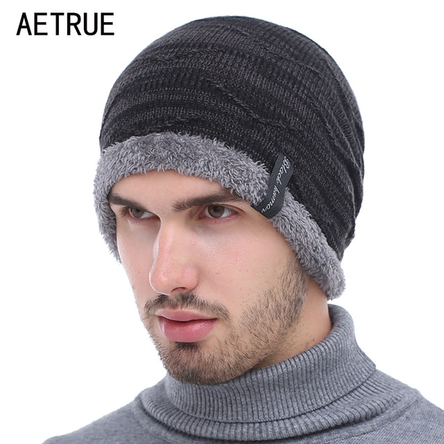 f65c6def53a Knitted Hat Skullies Beanies Men Winter Hats For Men Women Bonnet Fashion Caps  Warm Baggy Soft Brand Cap Plain Beanie Mens Hat