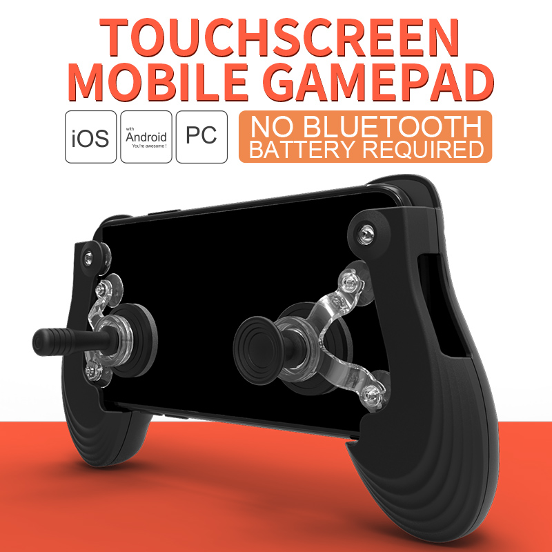 Voground New Touch Screen Mobile Gamepad + Gamepad joystick + Suction cup For PUBG For Fortnite Controller Mobile Phone