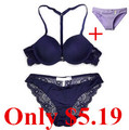Zihooo BS011 Women Push Up Bra Sets Deep V Sexy Lace Bra Panty Set Type Underwear Lingerie Sets