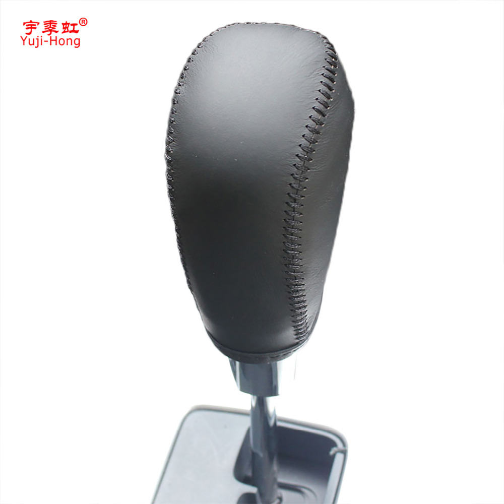 Yuji-Hong Car Automatic Gear Covers Case For Chery Tiggo 5 Auto Shift Collars Genuine Leather Car Styling Gear Knob Cover
