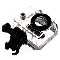 Esqueleto impermeável da caixa da carcaça do mergulho com lente para gopro hero 2