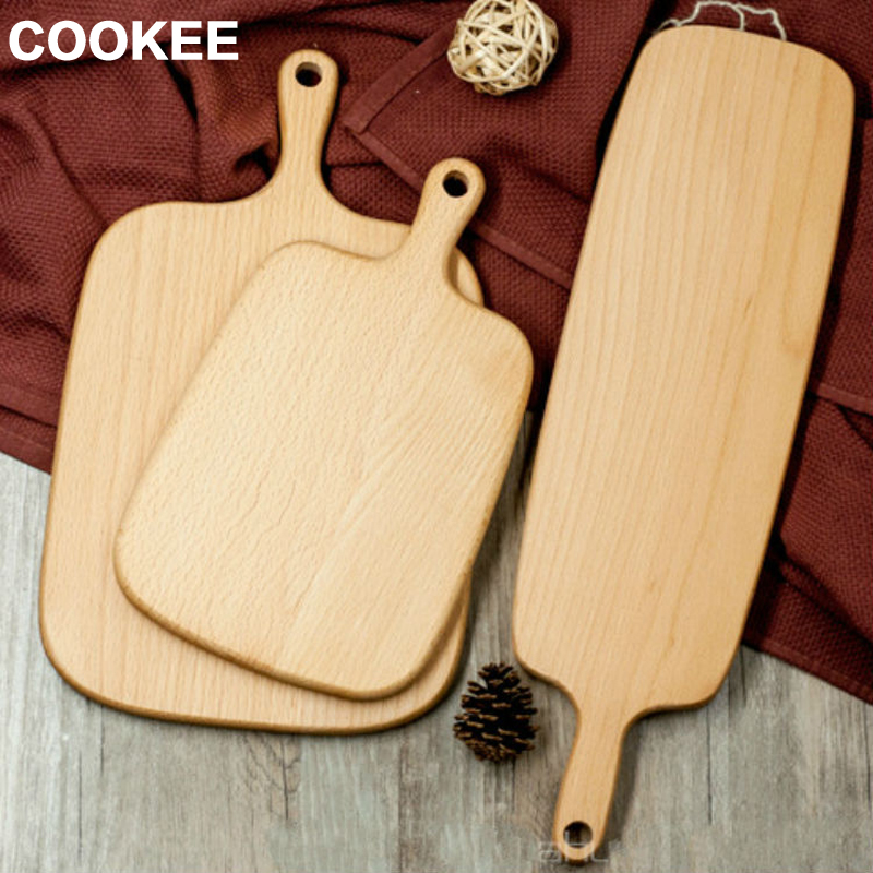 Wooden Beech Wood Pastry Chopping Cheese Cutting Board 3 Sizes Baking Block