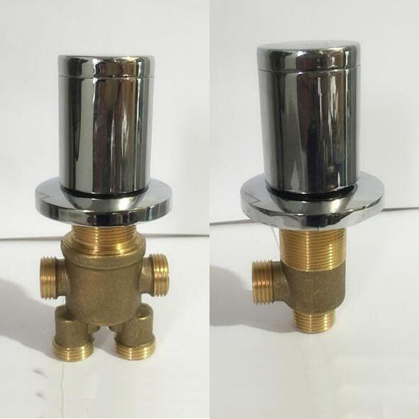 2 Types Cold And Hot Water Master Switch Separator 2 Piece Set Bathroom Bathtub Valves 2 4