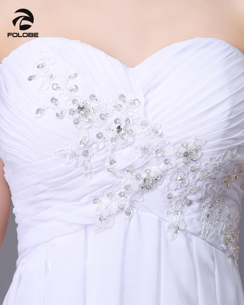 Vestido De Novia 2017 Custom Made White/Ivory Chiffon Applique Beading Lace Beach Wedding Dress Bridal Gowns 6