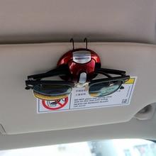 Car Glasses Cases Card Ticket Pen Clip Portable Sun Visor Sunglasses Eyeglasses Holder ABS Fastener Clip Interior Accessories