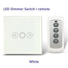 LED Dimmer Switch For Dimmable Spot Lights 1 Gang with remote,PWM Triac EU/UK Standard Touch Switch