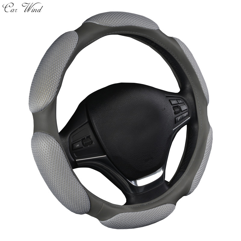 Car Wind Car Steering Wheel Cover Breathability Skidproof Universal Fits Most Car Styling Steering Wheel Red Steering Covers