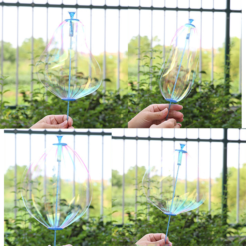 Byfa 1Pc Outdoor Soap Bubble Stick Blowing Wands Kids Toys