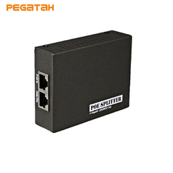 New 2PCS IEEE 802.3at/af PoE Splitter Adapter 5V(3.5A) 12V(2A) ,18V(1A) power output optional 10/100/1000 Mbps Data Rate