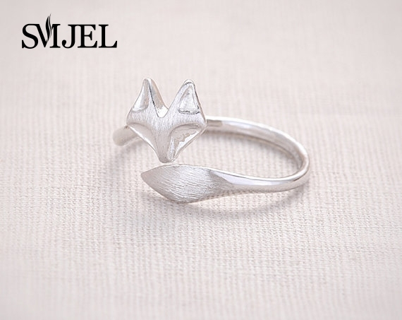 SMJEL 2017 New fashion Jewelry Cute Punk Fox Ring Adjustable Rings Animal Rings Cool Rings For Women Party gifts 10 PCS-R017