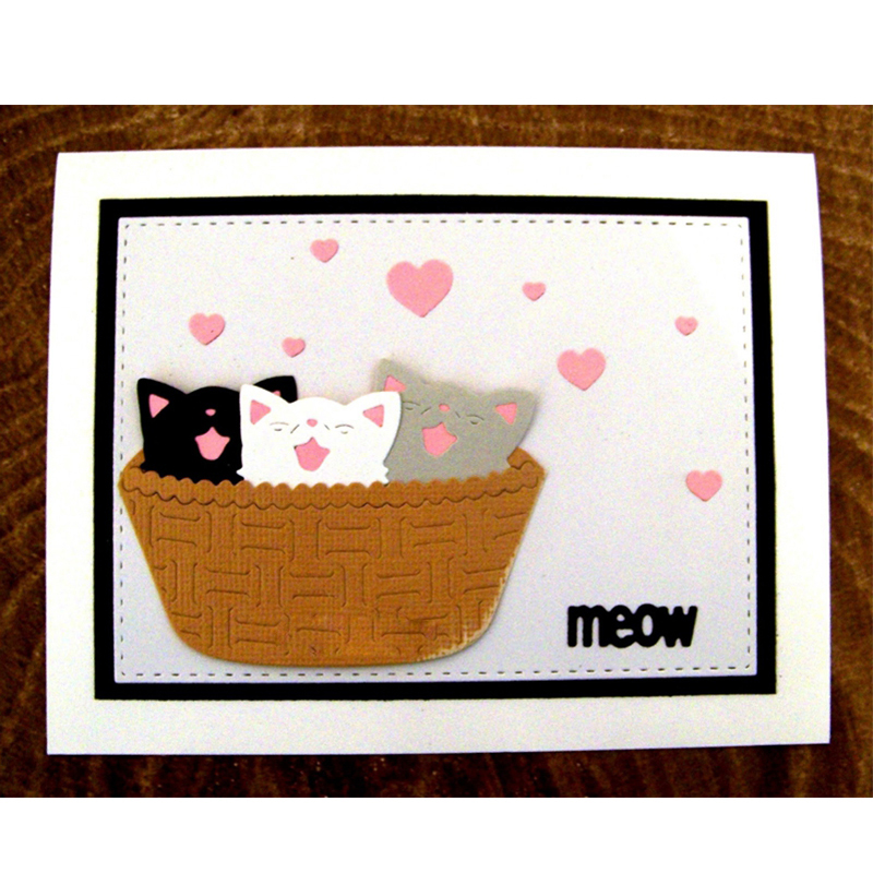 Cute Lovely Cat Metal Cutting Dies Stencils For DIY Scrapbooking Decorative Embossing Suit Paper Cards Die Cutting Template 2018