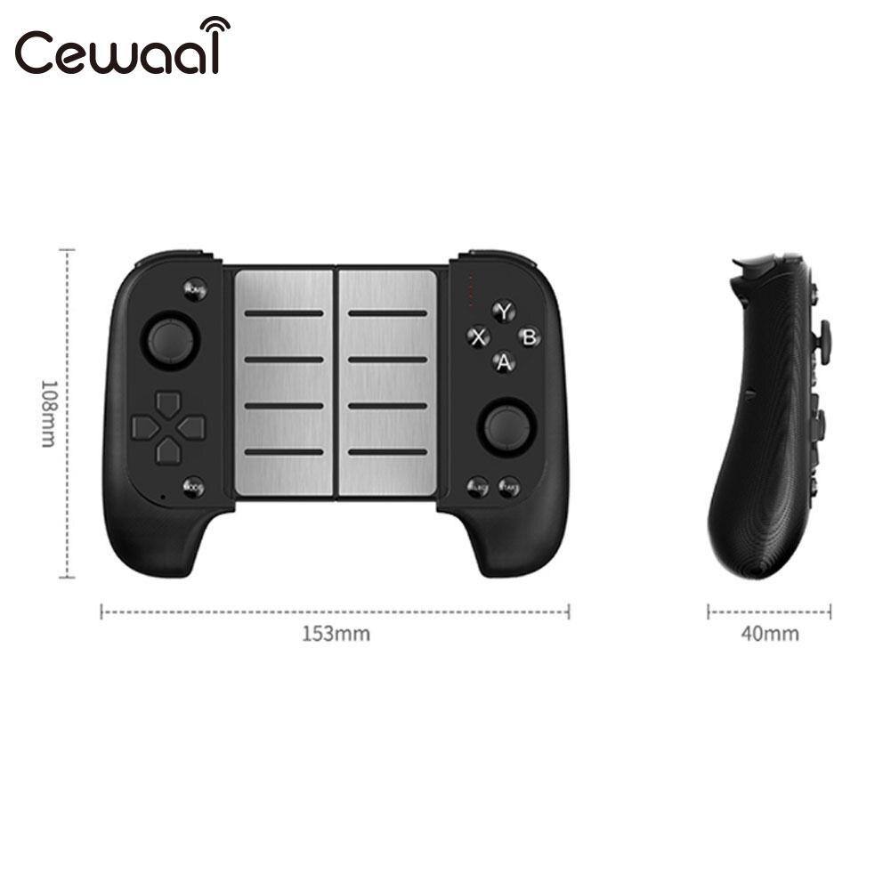 Contrôleur de jeu noir télescopique Cewaal manette de jeu Bluetooth manette de jeu sans fil Bluetooth manette Portable Joypad