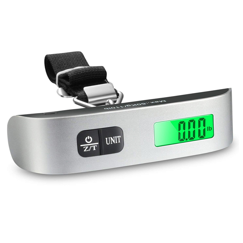 Mini Protable Luggage Scale 40Kg Travel Suitcase Bag Scale Electronic Hanging Scale Weight Balance Fishing Hook Scale Handheld