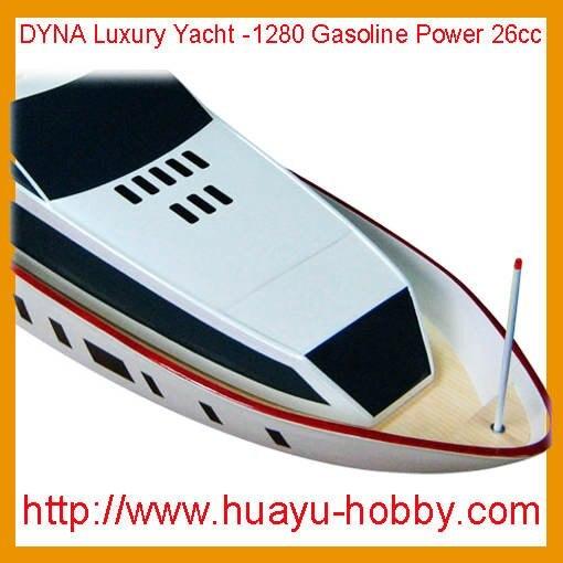 DYNA роскошная яхта-1280 2CH 2,4G система 26cc газовый двигатель Лодка на дистанционном управлении ems GL303* P