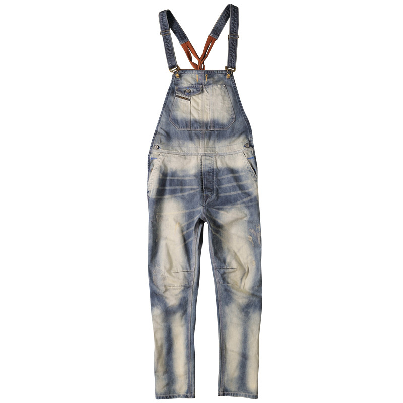 2017 Brand Fashion New Mens Denim Overalls Jeans Men's Clothing Casual Distrressed Loose Jumpsuit Jeans Pants For Man 2016 brand fashion new mens ripped denim overalls jeans men s clothing casual distrressed jumpsuit jeans pants for man larg size