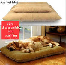 Kennel Mat Warm Corduroy Padded Dog Bed Waterproof Washable Pet House Mat  Soft Sofa Kennel Dogs Cats house For large dogs 1.25