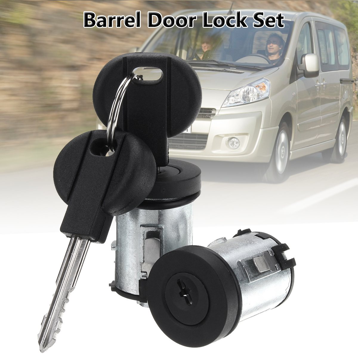 2Pcs Car Barrel Door Locks Keys Set For Peugeot Expert 806 For Citroen Dispatch Xantia 9170.AY 4162.C9 4162.L0 4162.PA2Pcs Car Barrel Door Locks Keys Set For Peugeot Expert 806 For Citroen Dispatch Xantia 9170.AY 4162.C9 4162.L0 4162.PA