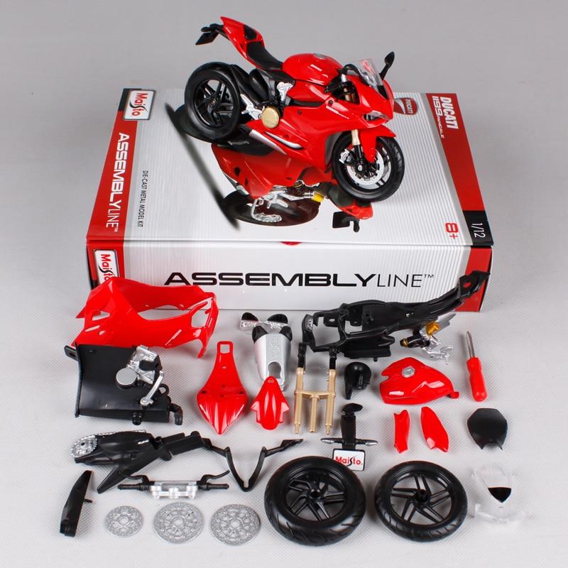 Maisto 1:12 Ducati 1199 PANIGALE жиынтығы DIY MOTORCYCLE BIKE - Дизайнерлер мен құрылыс ойыншықтары - фото 2