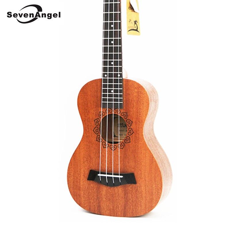 SevenAngel 21 pouces ukulélé acajou Soprano guitare de voyage Hawaii 4 cordes Ukelele électrique acoustique Gitar avec ramassage EQ