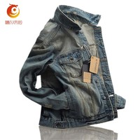 Fashion Denim Jacket Men Coats Casual Plus Size 3XL Cotton Outwear Turn Down Collar Jeans Jacket
