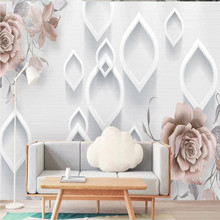 Factory direct modern minimalist art flower relief TV, living room, sofa, bedroom background wall