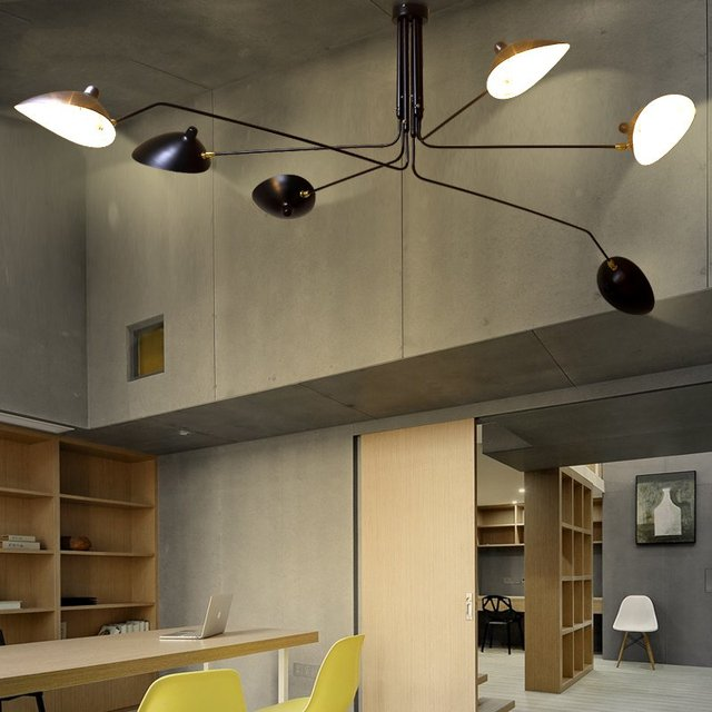 US $40.32 28% OFF|Modern DaWn Spider Serge Mouille Ceiling Lights for  Living Room Bedroom Lamp Hanging Luminaire Home Lighting Fixtures Art  Deco-in ...