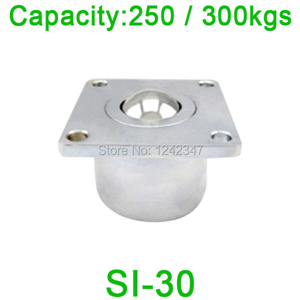 Free shipping SI-30 ball bearing unit,SI30 250kgs / 300kgs load capacity, Heavy Flange Ball transfer unit
