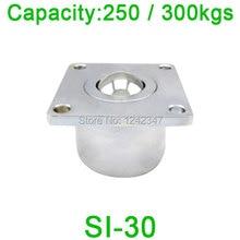 Бесплатная доставка СИ-30 шарикоподшипник блок, SI30 250kgs/300kgs грузоподъемность, тяжелых Фланец Мяч в блоке переноса