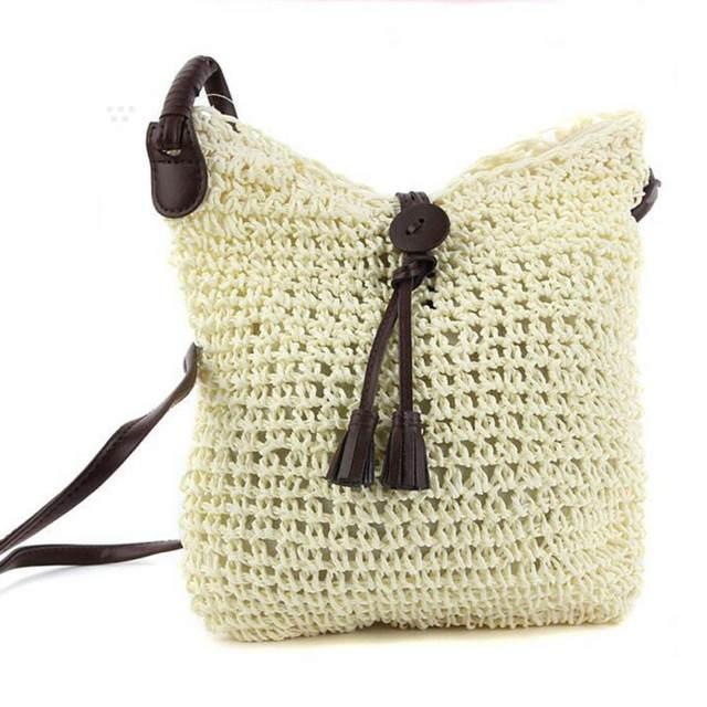 Online Shop Summer Women Durable Weave Straw Beach Bag Feminine Linen Woven  Bucket Bag Grass Casual Tote Handbags Knitting Rattan Bags Hobos  75abec18c753