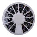 3 Размеры Черный AB Акриловых Ногтей Наклейки Советы Блеск Мода Nail Art 3D Украшения Шарм Шпильки Спайк Ювелирные Изделия Маникюр Инструмент