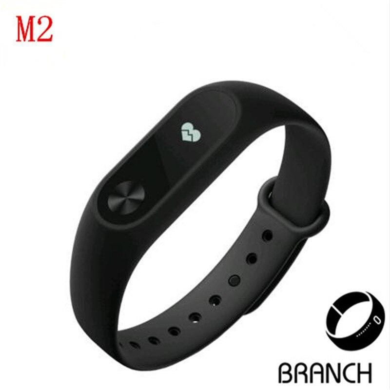 M2 Sport bracelet font b smart b font wristband heart rate monitor bluetooth font b watch