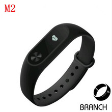 M2 Sport bracelet smart wristband heart rate monitor bluetooth watch men silicone waterproof smartband for Android