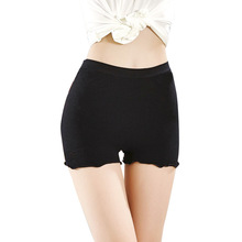 Womens Safety Shorts Pants Newest Solid Color Seamless Heart Hollow High Elastic Ruffled