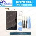 Pptv rey 7 pantalla lcd + pantalla táctil 100% original lcd digitalizador reemplazo de cristal del panel para pptv rey 7 + tool + adhesivo