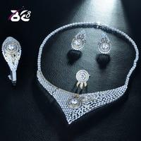 Be 8 Newest Elegent Necklace 4pcs Wedding Set Geometric Design Nigerian Dress Accessories Jewelry Set Dubai Girls Party S265