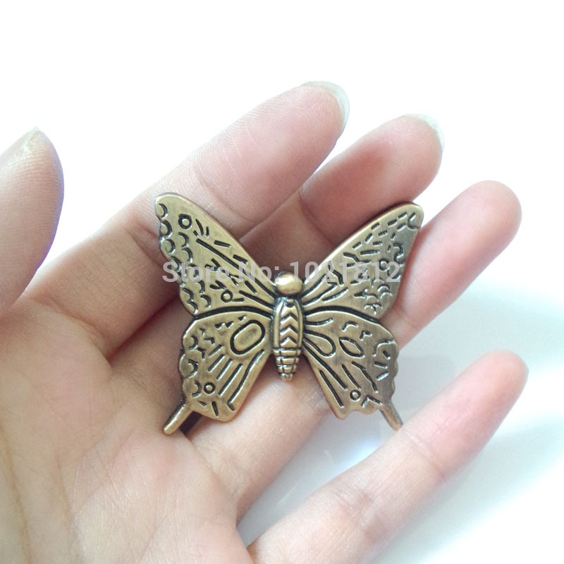 Antique Bronze Butterfly Cabinet Handle Knob Drawer Pull Closet