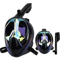 2019 Cool Diving Equipment Diving Mask Scuba Mask Underwater Anti Fog Full Face Snorkeling Mask Men Women Kids Swimming Snorkel