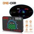 Автомобильный дисплей GEYIREN E350 OBD2 II HUD 5 8-дюймовый экран легко подключается и воспроизводит сверхскоростной сигнал тревоги расход топлива ди...