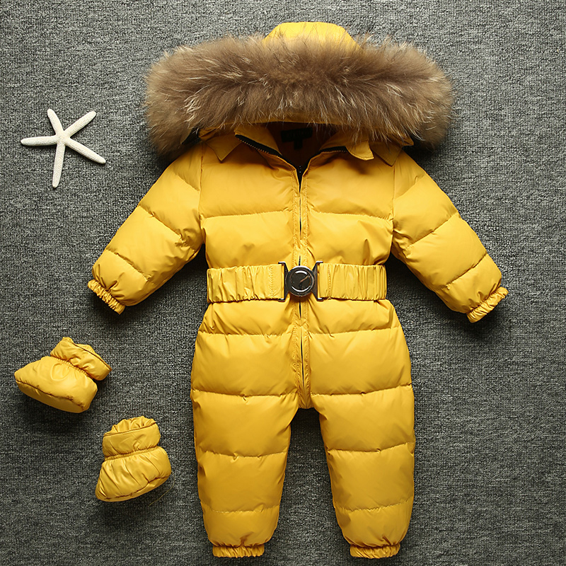 Baby Jumpsuit Winter Clothes Boys Snow Wear Infant Girl -5535