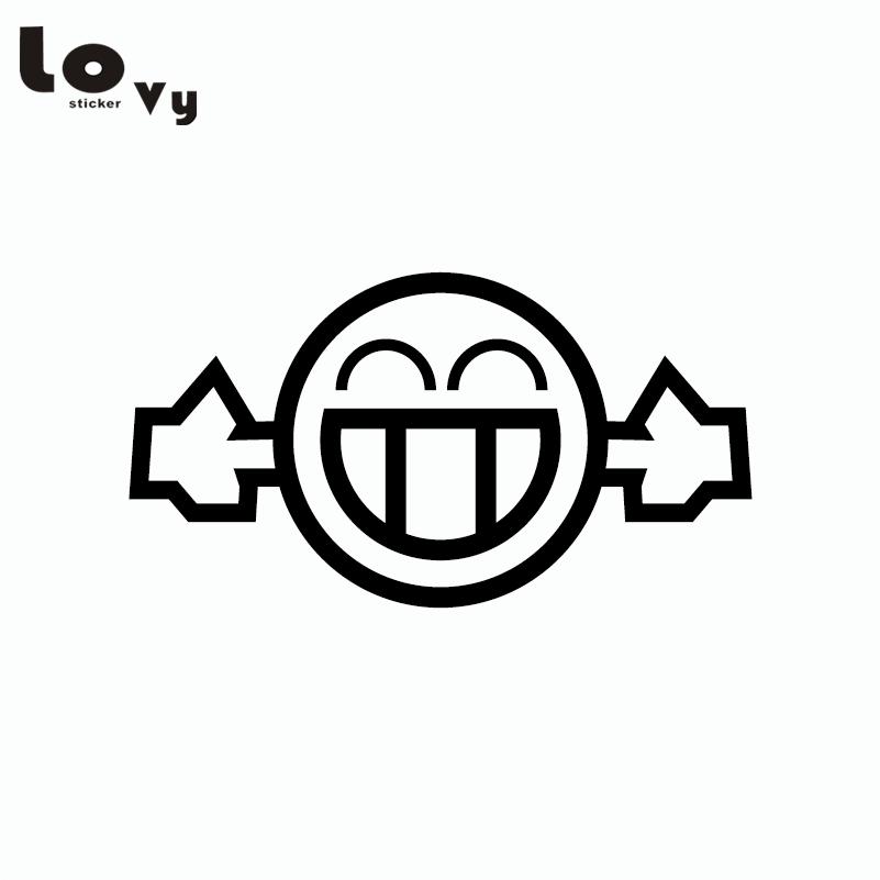 2pcs Too Loud Smiley Exhaust Funny Car Sticker Creative Cartoon Vinyl Car Decal