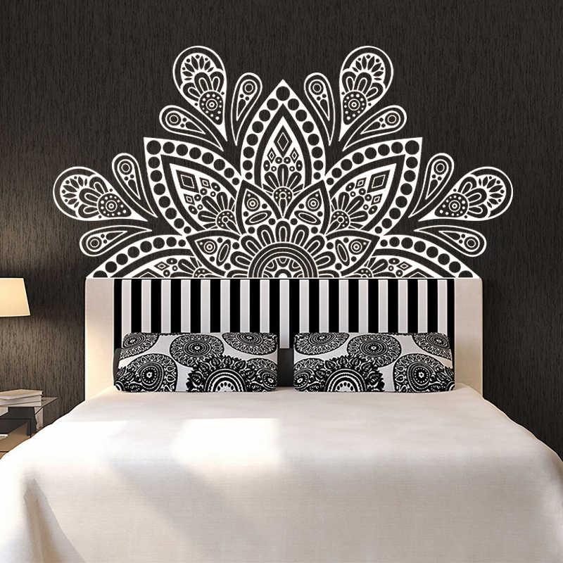India Buda Dios OM Symnol arte Namaste Mandala Yoga Lotus pared pegatina meditación vinilo Interio cama decoración del hogar
