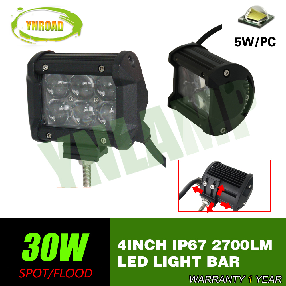 30W 4inch LED Driving Offroad Light Led Work Light Bar Spot Beam 4D optical lens ATV UTV Truck 4×4 work light
