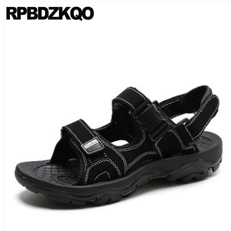 9b6f77bc5 Shoes Size 47 Sport Black Platform Mens Sandals 2018 Summer Outdoor Leather  Slides Sneakers Brown 46 ...