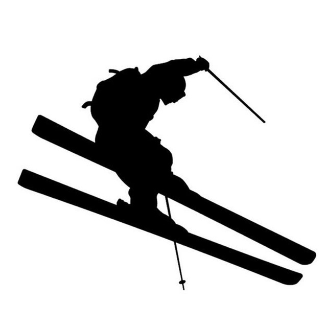 14 38 5cm ski jumping brave car sticker decals cartoon motorcycle decals decorative car styling